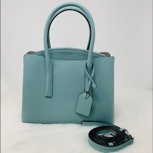 Kate spade medium Margaux bag hazy satchel Blue